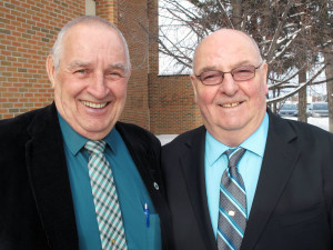 L to R: 2015 Acting KERHD Chair Larry Binks and Board Chair Dean McKerracher